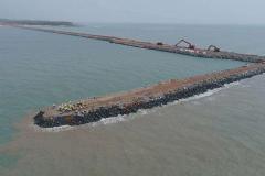 Final length of 1.4km, including breakwater
