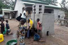 Water borehole in use