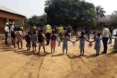 Haul Road Safety Awareness with local school children