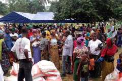 Company sponsored Ramadan festivities in Khoundinde village