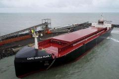 Cape Pearl I docking at Bel Air berth