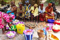 Local women preparing a celebratory meal to bless the project area